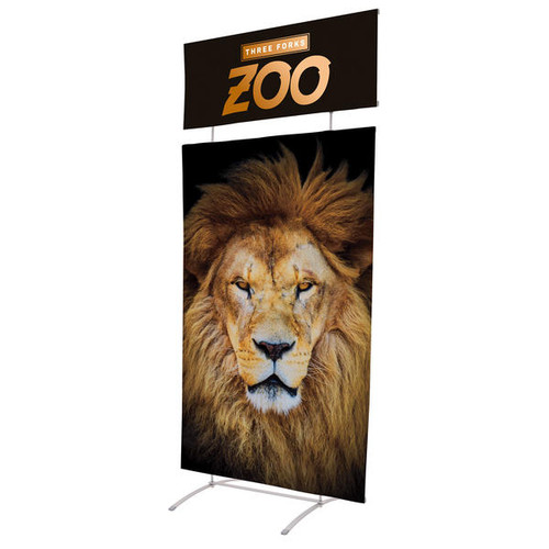 Snap Banner Display with Header Kit, Single-Sided