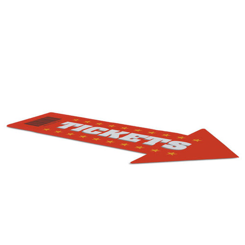 """Surface Grip Adhesive Graphic 72"""" x 42"""" Arrow (259064)"""
