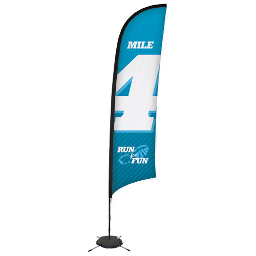 13' Premium Razor Sail Sign Kit (Single-Sided with Scissor Base) (190759)
