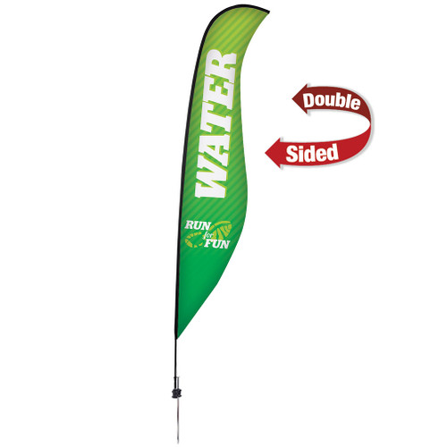 17' Premium Sabre Sail Sign Kit (Double-Sided with Ground Spike)