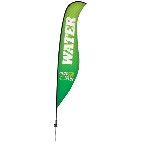 17' Premium Sabre Sail Sign Kit (Single-Sided with Ground Spike) (190964)