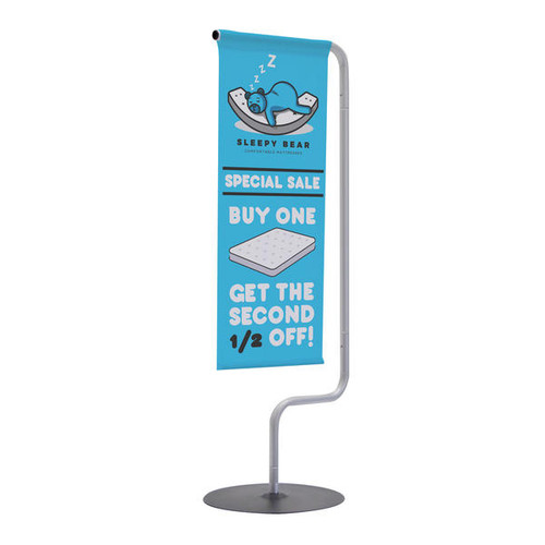 Monopode Tabletop Banner Display Single-Sided Kit