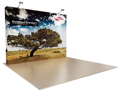 10ft OneFabric Straight Wall Pop up Display (OF043FK-P)