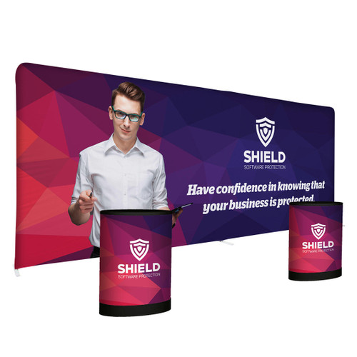 20ft EuroFit Double-Sided Wall Publicity Pro Total Show Package