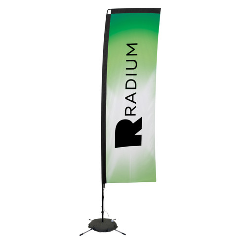 48-Hour Quick Ship 10' Premium Rectangle Sail Sign Kit – Single-Sided with Scissor Base (190803)