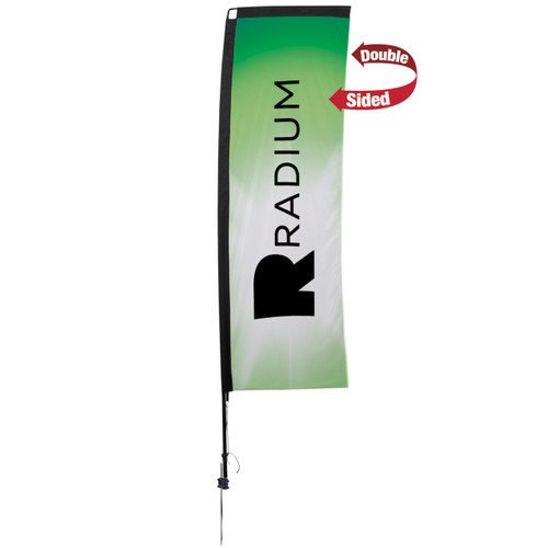 48-Hour Quick Ship 10' Premium Rectangle Sail Sign Kit – Double-Sided with Ground Spike (190832)
