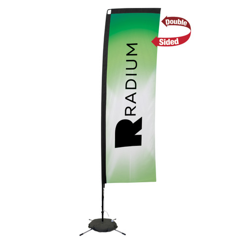 48-Hour Quick Ship 10' Premium Rectangle Sail Sign Kit – Double-Sided with Scissor Base