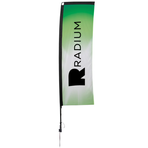 48-Hour Quick Ship 10' Premium Rectangle Sail Sign Kit – Single-Sided with Ground Spike (190823)