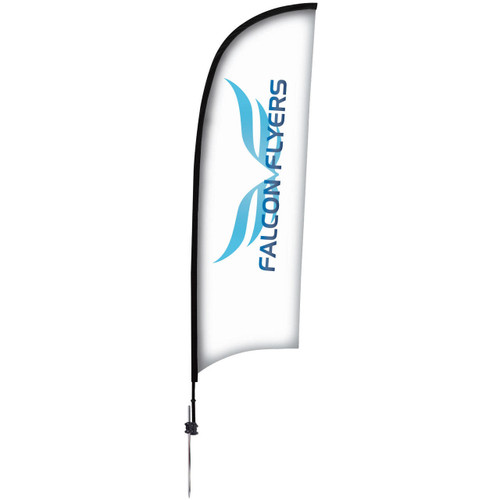 24-Hour Quick Ship 9' Premium Razor Sail Sign Kit – Single-Sided with Ground Spike