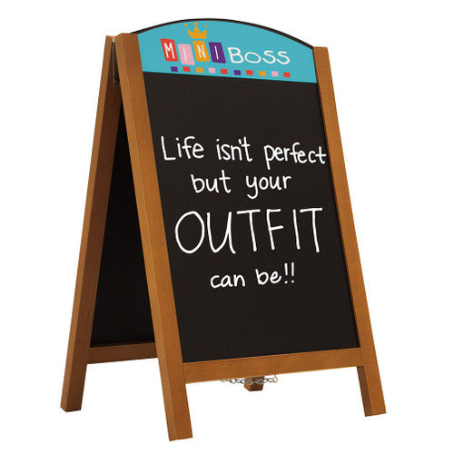 "34"" Quick Change Wood A-Frame Chalkboard Kit (263380)"