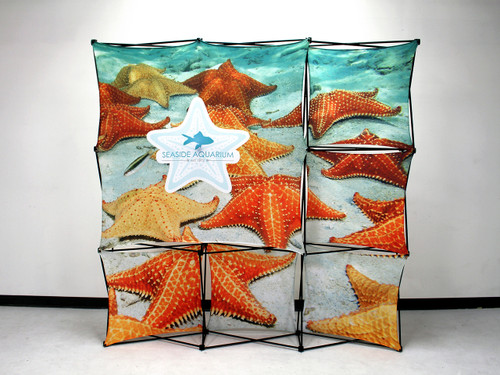 8ft - 3x3 X1 Fabric Pop-Up Display H