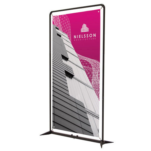 4.5' FrameWorx Banner Display Kit (No-Curl Opaque Fabric) (263317)