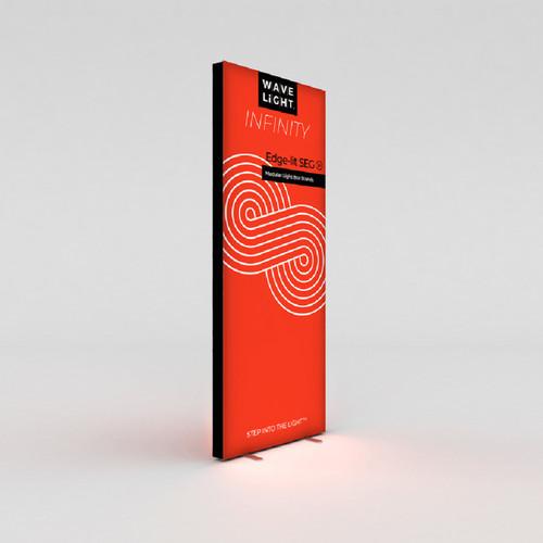 "WaveLight Infinity SEG Light Box Stand - Double-sided - 37.4""W x 94.5""H (INFT-KGD-950L)"