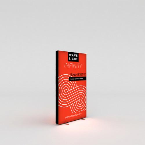 "WaveLight Infinity SEG Light Box Stand - Double-sided - 37.4""W x 64.2""H (INFT-KGD-950S)"