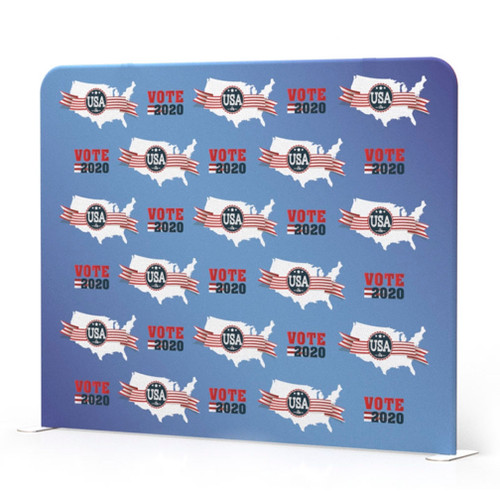 Step and Repeat Banners Wave Tube 10' Straight Display