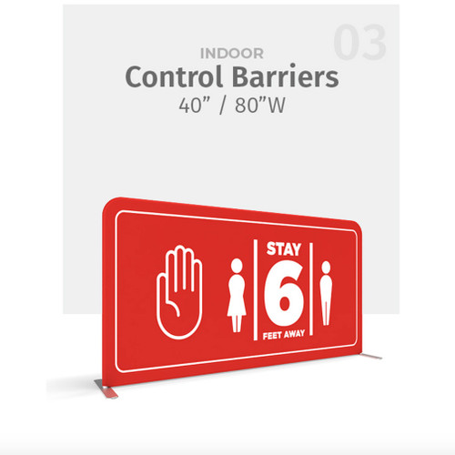 """80"""" WaveLine® Control Barrier Double-sided"""
