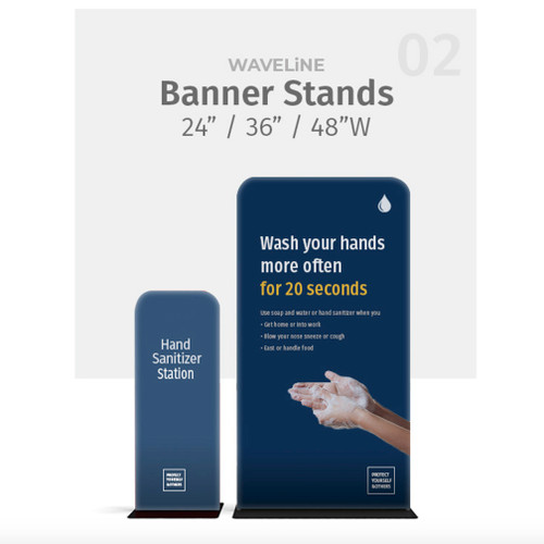 48x89 WaveLine Banner Stand Double-sided