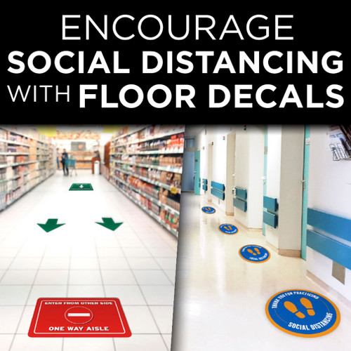 Encourage Social Distancing & Guide Traffic Flow with Floor Decals