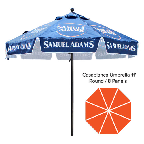 Product - 11′ – Café Umbrella – Fully Printed