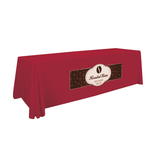 8' Stain-Resistant Standard Table Throw (Full-Color Imprint, One Location) (114123)