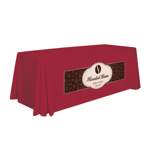 6ft Stain-Resistant Standard Table Throw (Full-Color Imprint, One Location) (114121)