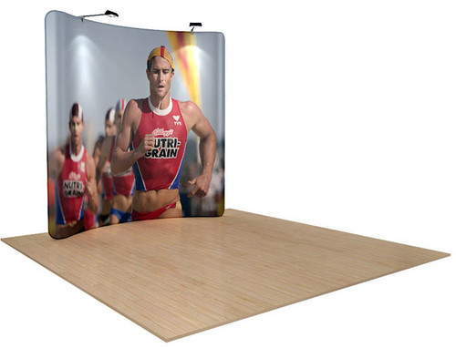 8ft WaveLine Curved Fabric Display