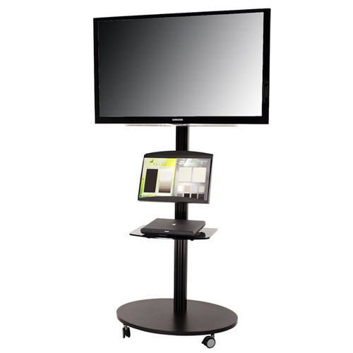 Monitor Stand Kiosk EZ Mobile ONE Portable 60 Inch High Flat Panel Display Stand for 28-60 Inch TV's