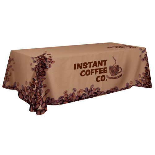 48-Hour Quick Ship 8ft Standard Table Throw (Full-Color Dye Sublimation, Full Bleed) (109049)