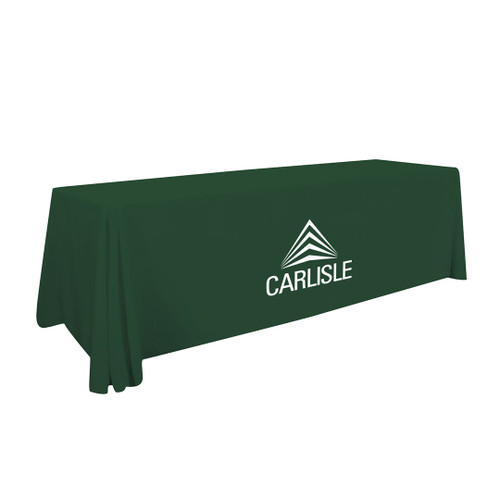 8ft Value Lite Table Throw (White Imprint, One Location) (116008)