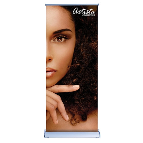 "33.5"" Retractable Banner Stand 33.5"" x 96"" Fabric Graphic Package"