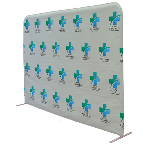 """8ft W x 72""""H Vinyl Wall Barrier Kit (Double-sided graphic)"""