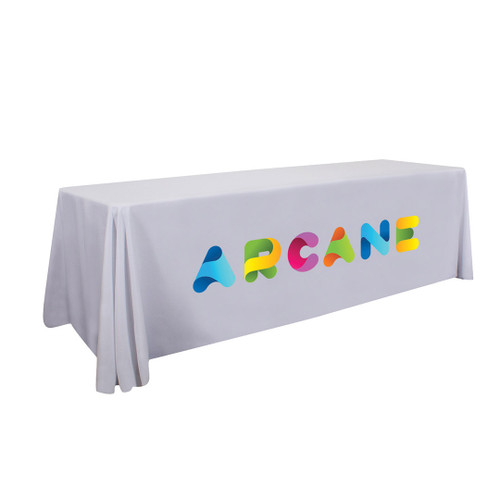 24-Hour Quick Ship 8ft Stain-Resistant Economy Table Throw (Full-Color Imprint) (106049)