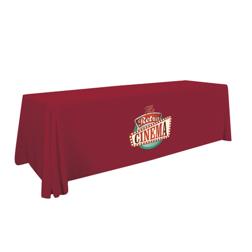 24-Hour Quick Ship 8' Economy Table Throw (Full-Color Imprint)  Item # 106031
