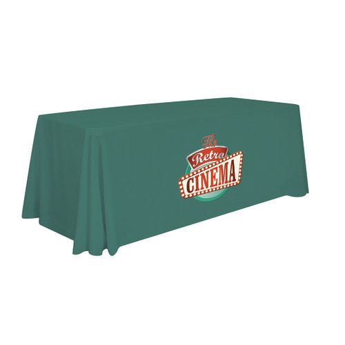 24-Hour Quick Ship 6' Economy Table Throw (Full-Color Imprint)