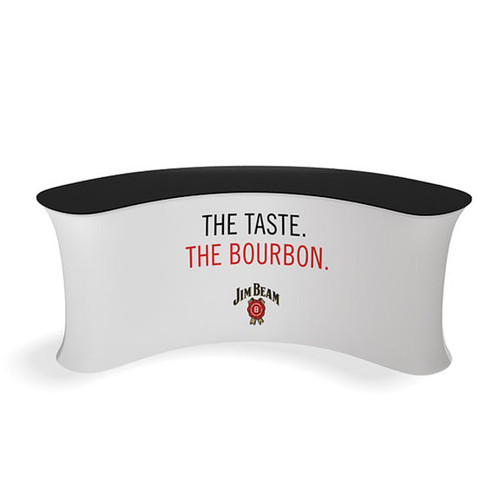 Concave Curved Tension Fabric Display Counter- 03CI