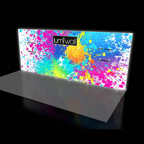 LumiWall 20' x 8' LED Backlit Printed Fabric Display
