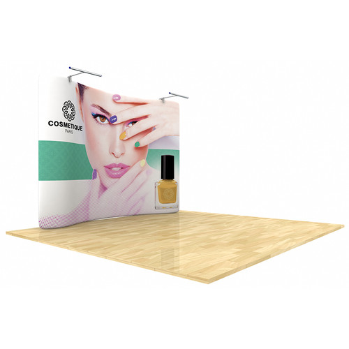 Wave Tube 10ft Curved Display with Double-Sided Graphic (WT10C2)