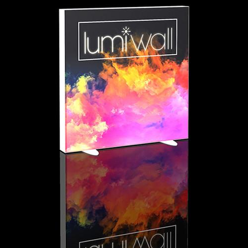 LumiWall 4' x 4' LED Backlit Printed Fabric Display