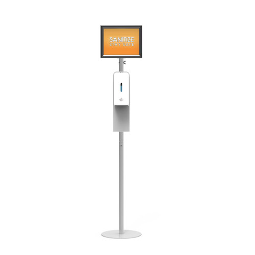 Sanitizing Stands with Overhead Sign