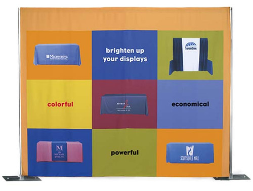 Full Color Fabric Backdrop Drapery