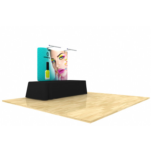 Wave Tube Display 6ft Curved Table Top with Graphic (WT6C1)