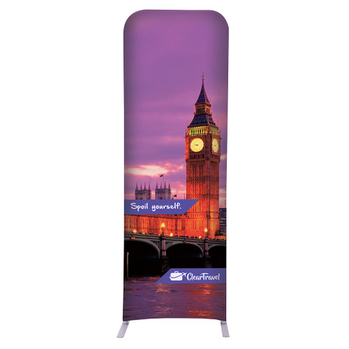 """2ft W x 72""""H EuroFit Straight Wall Double Sided Graphic Kit (256203)"""