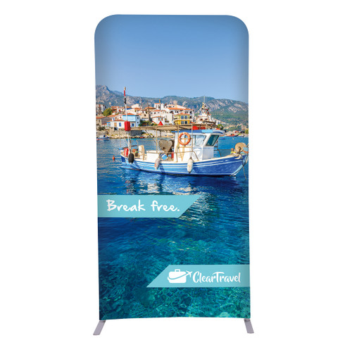 """3ft W x 72""""H EuroFit Straight Wall Double Sided Graphic Kit (256212)"""