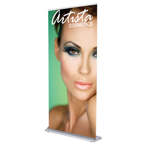 36 in. SilverStep Retractable Banner Stand