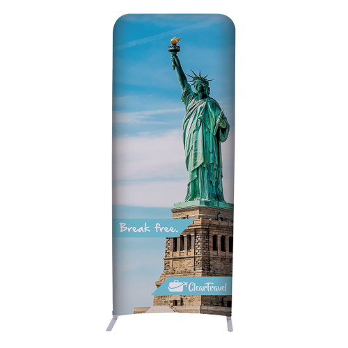 """3ft W x 90""""H EuroFit Straight Wall Double Sided Graphic Kit (256215"""