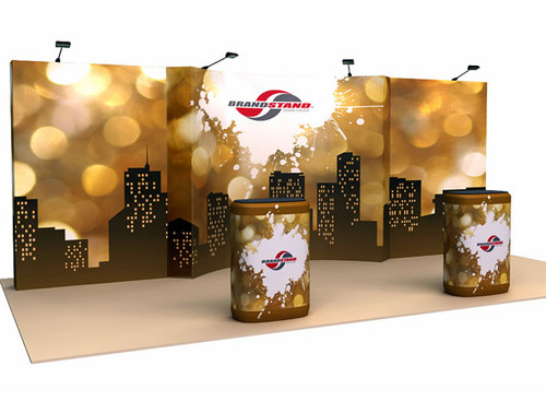 OneFabric 20ft Curved Pop Up Display Kit