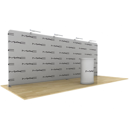 Wave Tube Straight Display 20ft' with Double Sided Graphic (WT20S2)