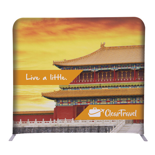 """5ft W x 54""""H EuroFit Straight Wall Double Sided Graphic Kit (256227)"""