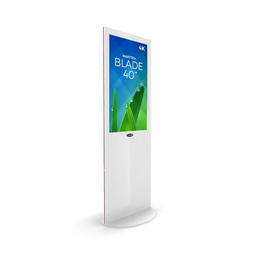 "Blade 40"" - 4K Digital Signage Kiosk - Blade Kiosk, White, Pro Interface, Touch (BLADE-WPT40)"