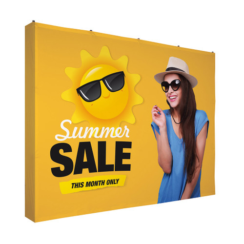 10ft Straight Fabric Pop Up with 4-Sided Graphic Kit